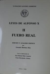 Fuero Real, ed. Martínez Diez
